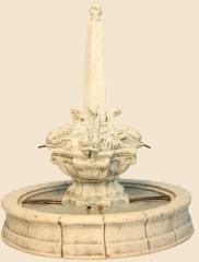 fontaine 4 dauphins 6cm