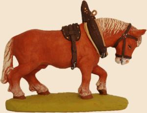 cheval de trait collier